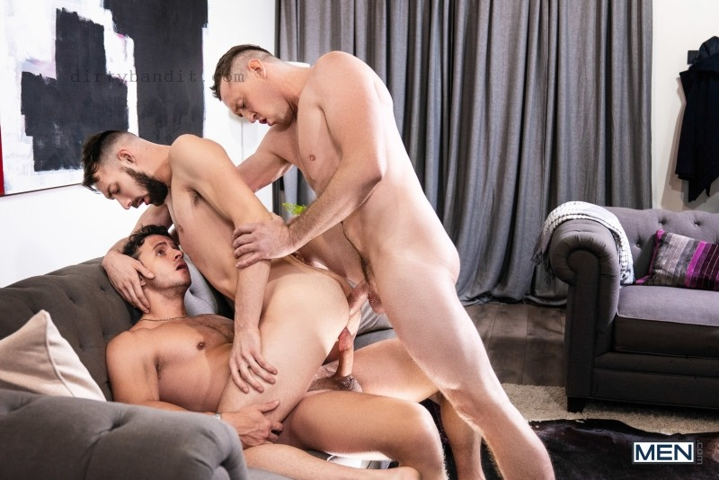 MEN - Double Facial By Surprise: Pierce Paris, Nate Grimes, Johnny B Bareback (Dec 23)
