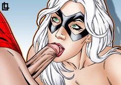 Leandro Comics - Black Cat Blowjob
