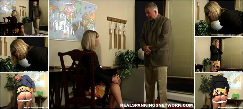 Elizabeth Burns - Ms.burns Receives A Caning (HD)