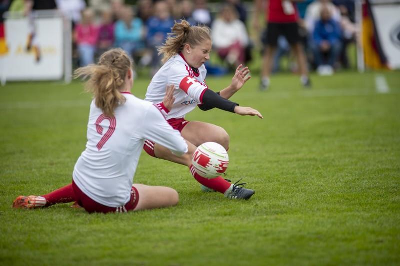 lovely soccer teens in lycra shorts