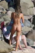 Alexis Ren Goes Topless at the Beach in St. Barts