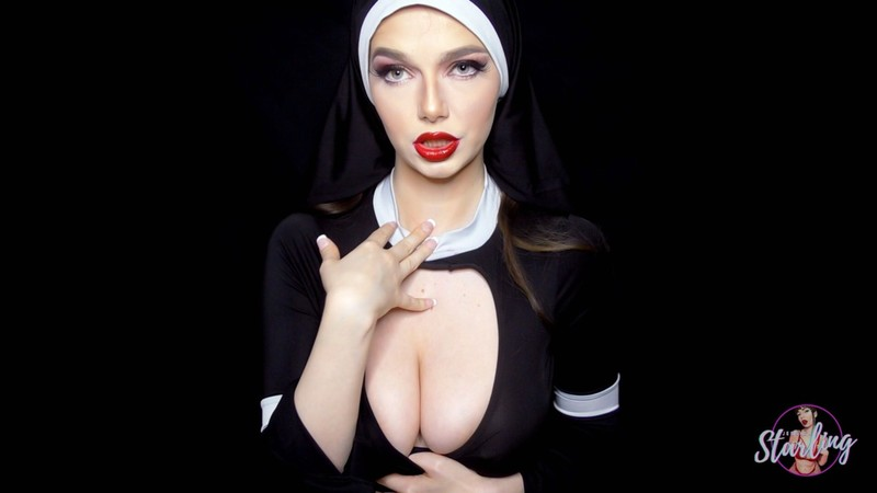 Jessica Starling - Cum and Be DAMNED Nun Humiliation Blasphemy JOI [FullHD 1080P]