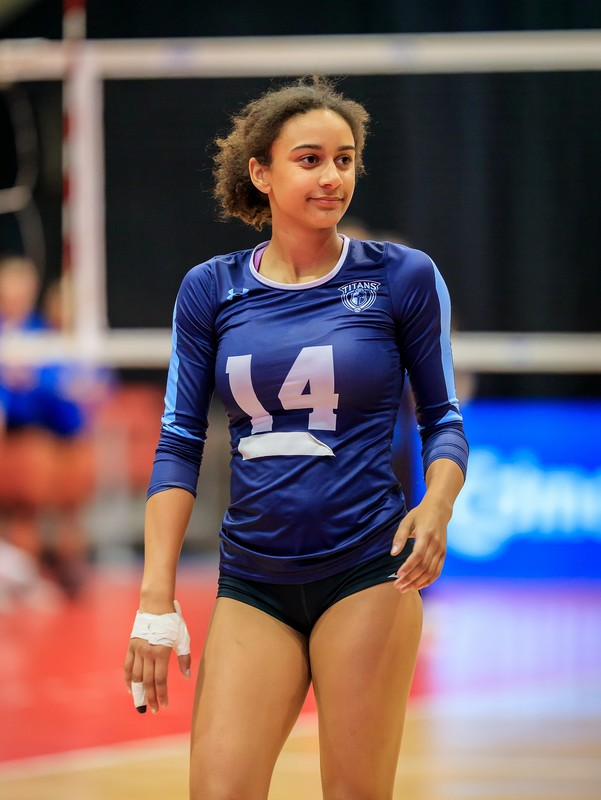beautiful college volleyball teens in tight shorts