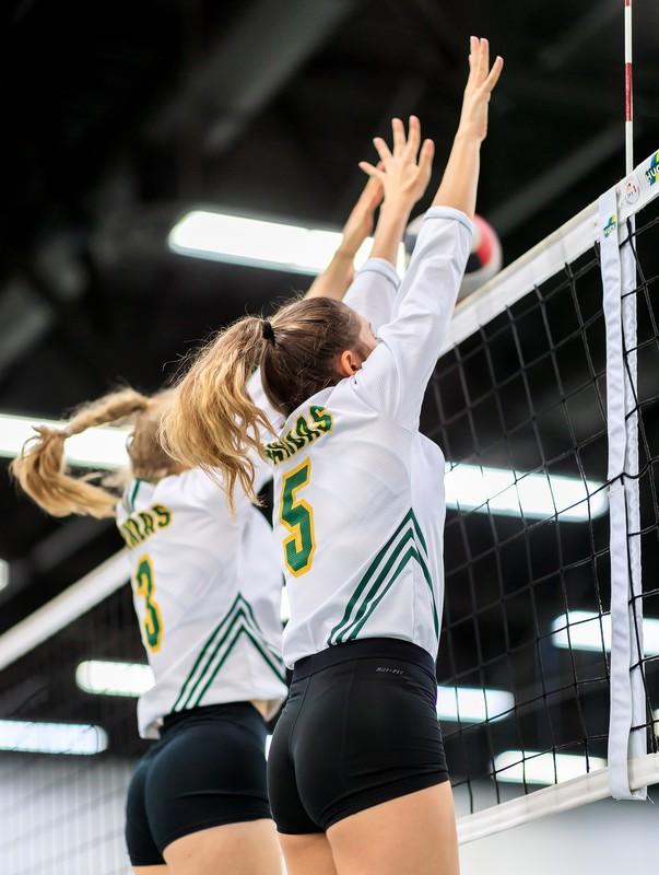 volleyball ladies in tight uniform