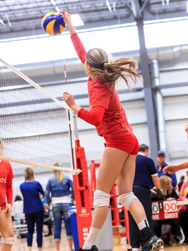 college volleyball teens in tight spandex