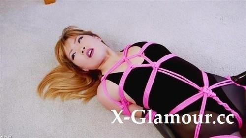 Mina - Velvet Bodysuit Pink Rope (HD)