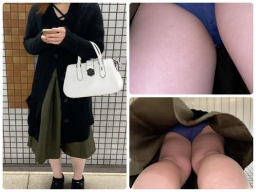 19B【だまし撮り】ロングスカートの奥の恥ずかしいシミ