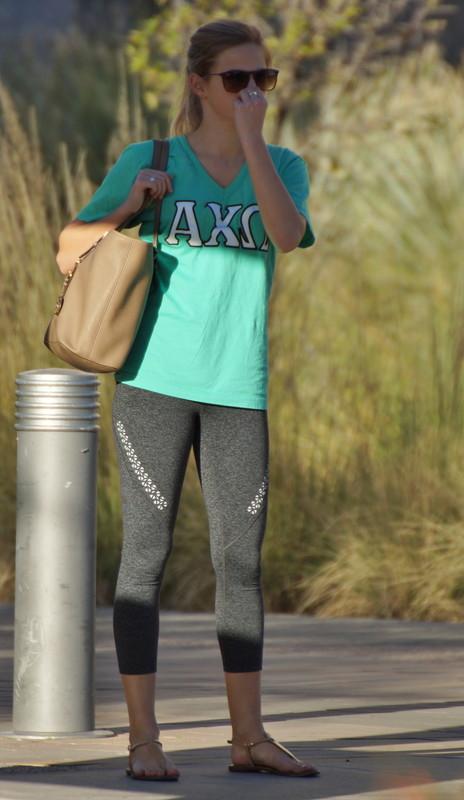 college teen in sexy leggings