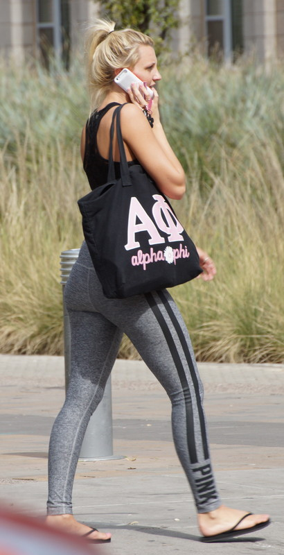 awesome college teen in yogapants