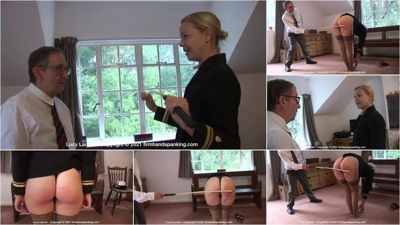 Lucy Lauren - Spanked In Uniform - O [HD 720p]