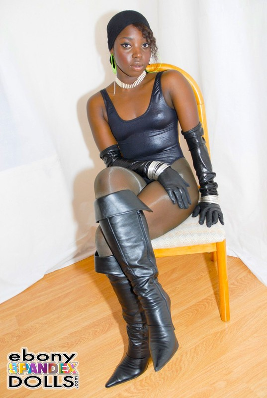 horny african female Rhita in leotards & pantyhose
