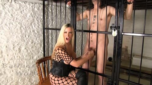 Mistress Nikki Whiplash - Sadistic Squeezing For His Big Juicy Balls