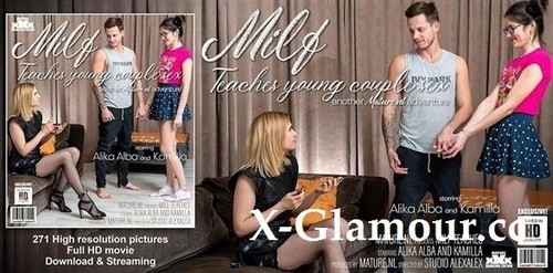 Alika Alba - Hot Milf Alika Alba Teaches A Young Couple Sex [FullHD/1080p]