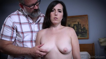 Stepfather fucks stepdaughter in a hotel in the mountains and makes her a sex slave