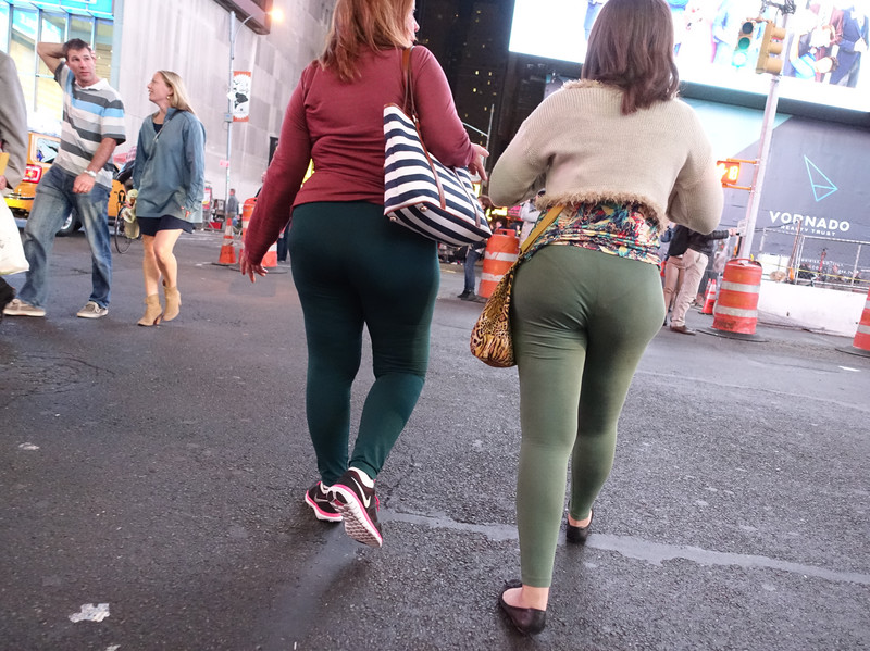 mature latina butt in tight see through leggings