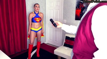 Superheroine Supergirl fucked by Lionel Luther in the mines under the influence of Pink Kryptonite