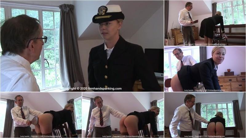 Lucy Lauren - Spanked in Uniform - L [HD 720p]