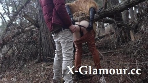 Outdoor Sex With Redhead Teen In Winter Forest. Risky Public Fuck - Otta Koi [FullHD]